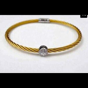 Charriol 18k rope and diamond bracelet
